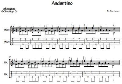 M. Carcassi - Andantino (Partitura e tablatura para ukulele)