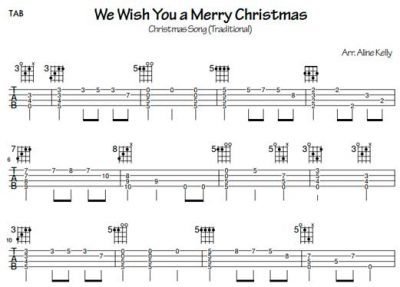 We wish you a Merry Christmas - (Tablatura por Aline Kelly)