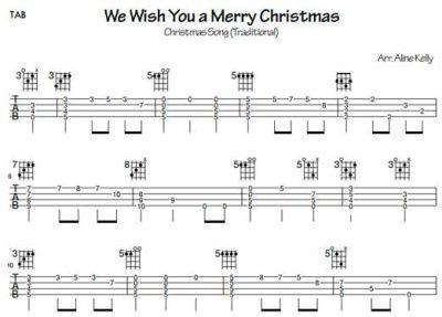 We wish you a Merry Christmas - (Tablatura por Aline Kelly)