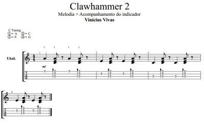 Clawhammer ukulele - Exercício 2 - Melodia e acompanhamento do indicador